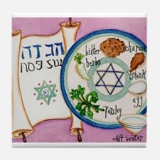 Passover Plate Tile Coaster