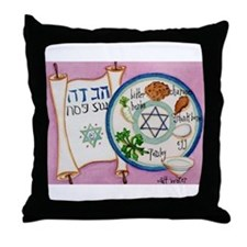 Passover Plate Throw Pillow