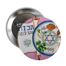 """Passover Plate 2.25"""" Button (10 pack)"""