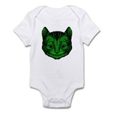 Cheshire Cat Green Fill Infant Bodysuit