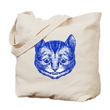 Cheshire Cat Blue Tote Bag