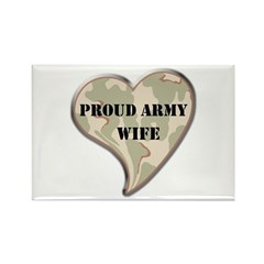 Proud Army wife camo heart Rectangle Magnet (10 pa