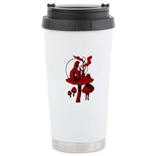 Alice and Caterpillar Red Fil Travel Mug