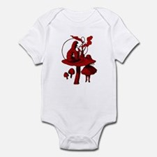 Alice and Caterpillar Red Fil Infant Bodysuit