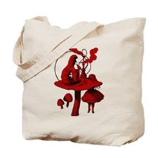 Alice and Caterpillar Red Fil Tote Bag