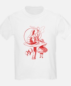 Alice and Caterpillar Red T-Shirt
