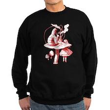 Alice and Caterpillar Red Sweatshirt