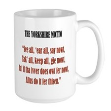 Yorkshire Rose & Motto Mug
