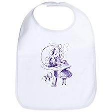 Alice and Caterpillar Purple Bib