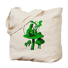 Alice and Caterpillar Green Tote Bag