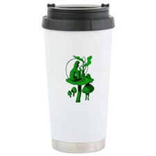 Alice and Caterpillar Green Travel Mug