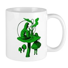 Alice and Caterpillar Green Small Mugs