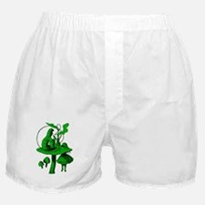 Alice and Caterpillar Green Boxer Shorts