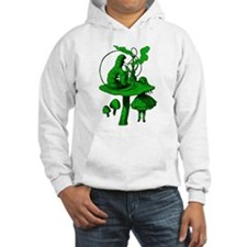 Alice and Caterpillar Green Hoodie Sweatshirt