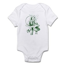 Alice and Caterpillar Green Infant Bodysuit