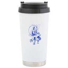 Alice and Caterpillar Blue Travel Mug