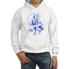 Alice and Caterpillar Blue Hoodie
