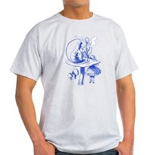 Alice and Caterpillar Blue T-Shirt