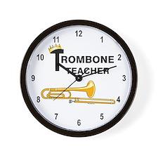 Trombone Teacher Wall Clock