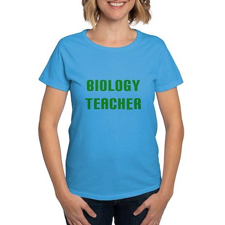 Biology Teacher Green Women's Dark T-Shirt