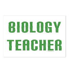Biology Teacher Green Postcards (Package of 8)