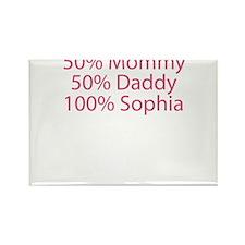 100% Sophia Rectangle Magnet (10 pack)