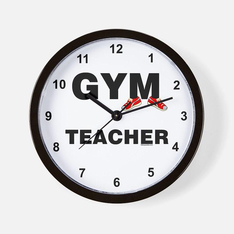 Gym Teacher Sneakers Wall Clock