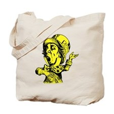Mad Hatter Yellow Tote Bag
