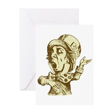 Mad Hatter Sepia Greeting Card