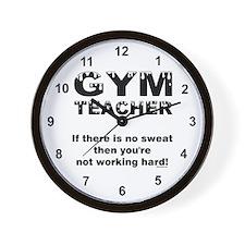 Sweaty Gym Teacher Wall Clock