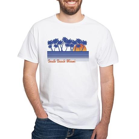 South Beach Miami White T-Shirt
