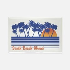 South Beach Miami Rectangle Magnet