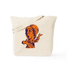 Mad Hatter Purple Orange Tote Bag
