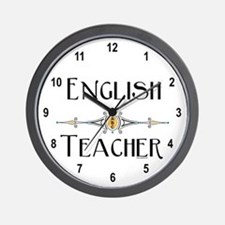 English Teacher ABC Wall Clock
