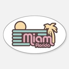 Miami Florida Sticker (Oval)