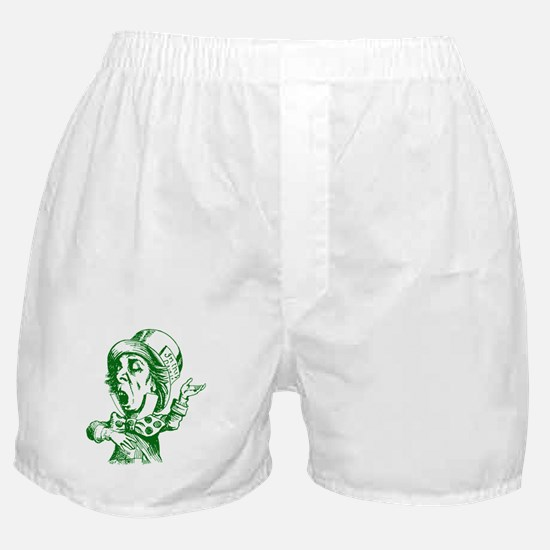 Mad Hatter Green Boxer Shorts