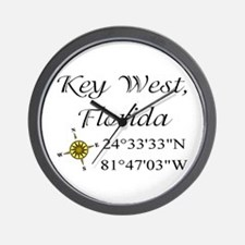 Geocaching Key West, Florida Wall Clock