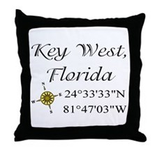 Geocaching Key West, Florida Throw Pillow
