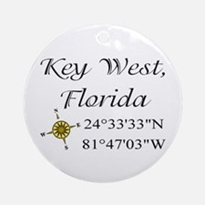 Geocaching Key West, Florida Ornament (Round)