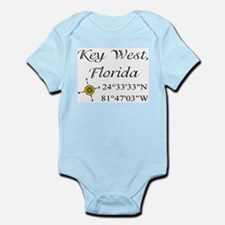 Geocaching Key West, Florida Infant Bodysuit