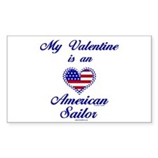 My Navy Valentine Rectangle Decal