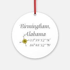 Birmingham, Alabama Ornament (Round)