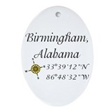 Birmingham alabama Oval Ornaments