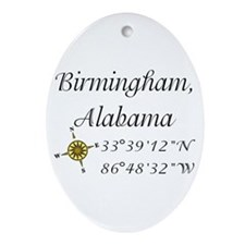 Birmingham, Alabama Ornament (Oval)