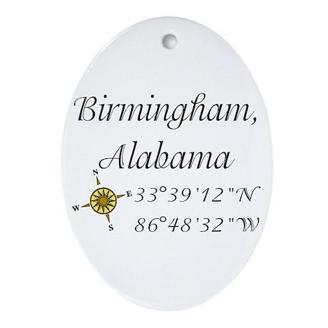 Birmingham, Alabama Ornament (Oval)