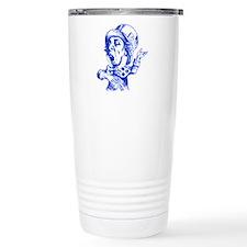 Mad Hatter Blue Travel Mug