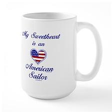 My Navy Sweetheart Mug