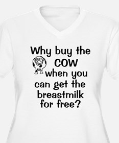 Why Buy Cow Breastmilk Free T-Shirt