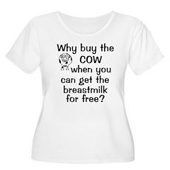 Why Buy Cow Breastmilk Free T-Shirt