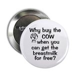 "Why Buy Cow Breastmilk Free 2.25"" Button"